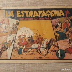 Tebeos: LA ESTRATAGEMA CON CARLOS EL INTREPIDO.1 PTA. Lote 204356060
