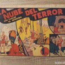 Tebeos: LA NUBE DEL TERROR CON CARLOS EL INTREPIDO.1 PTA. Lote 204357108
