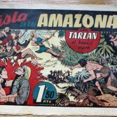 Tebeos: TARZAN. LA ISLA DE LAS AMAZONAS - ORIGINAL. Lote 204681836