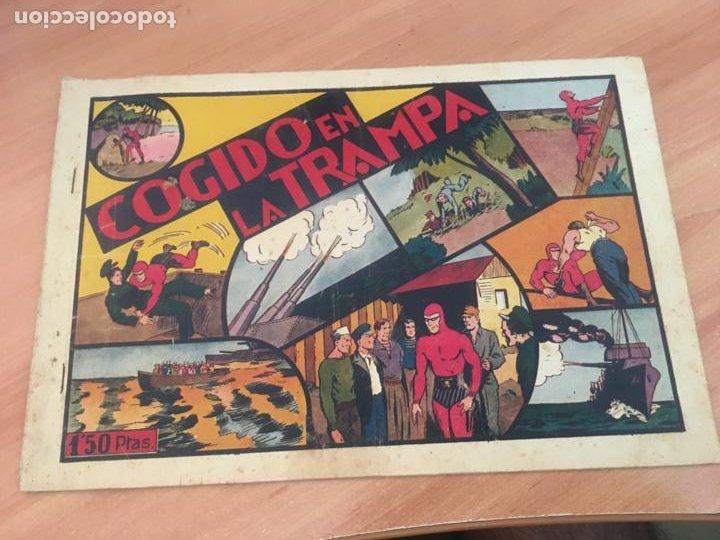 EL HOMBRE ENMASCARADO Nº 18 COGIDO EN LA TRAMPA (ORIGINAL HISPANO AMERICANA) CROMOS (AB-2) (Tebeos y Comics - Hispano Americana - Hombre Enmascarado)