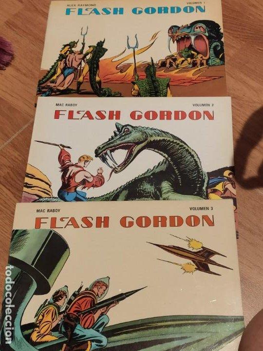 COMIC 1978 FLASH GORDON, VOLUMEN 1, 2 Y 3, DE ALEX RAYMOND Y MAC RABOY (Tebeos y Comics - Hispano Americana - Flash Gordon)