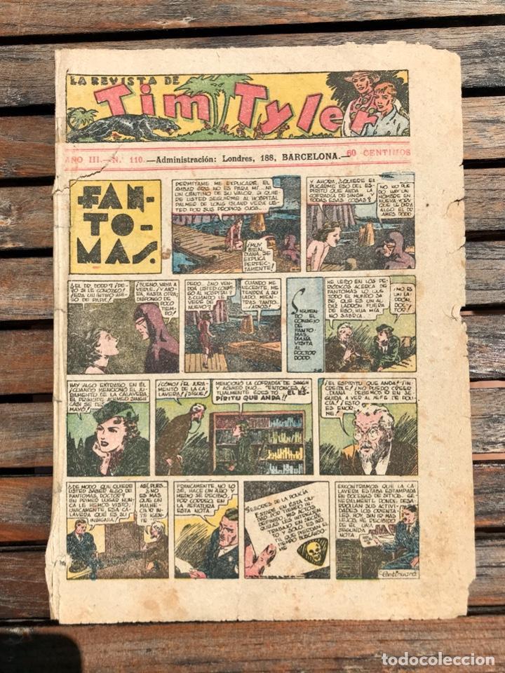 TIM TYLER Nº 110 (DE 113). HISPANO AMERICANA DE EDICIONES, NOVIEMBRE DE 1938. VER FOTOS. (Tebeos y Comics - Hispano Americana - Tim Tyler)