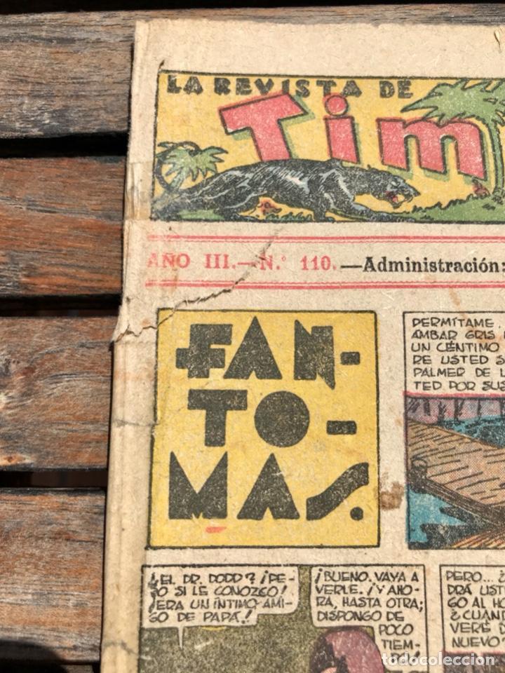 Tebeos: TIM TYLER Nº 110 (DE 113). HISPANO AMERICANA DE EDICIONES, NOVIEMBRE DE 1938. VER FOTOS. - Foto 2 - 185696102