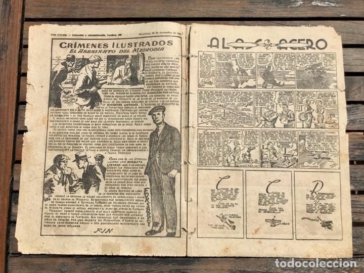 Tebeos: TIM TYLER Nº 110 (DE 113). HISPANO AMERICANA DE EDICIONES, NOVIEMBRE DE 1938. VER FOTOS. - Foto 3 - 185696102