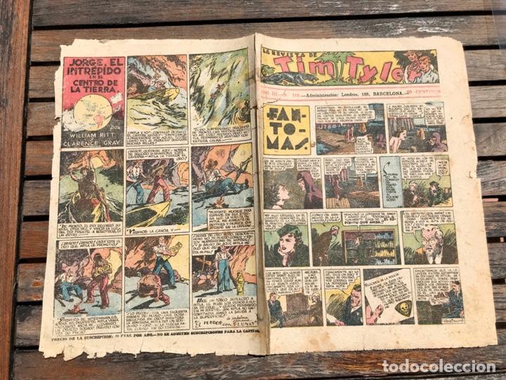Tebeos: TIM TYLER Nº 110 (DE 113). HISPANO AMERICANA DE EDICIONES, NOVIEMBRE DE 1938. VER FOTOS. - Foto 5 - 185696102