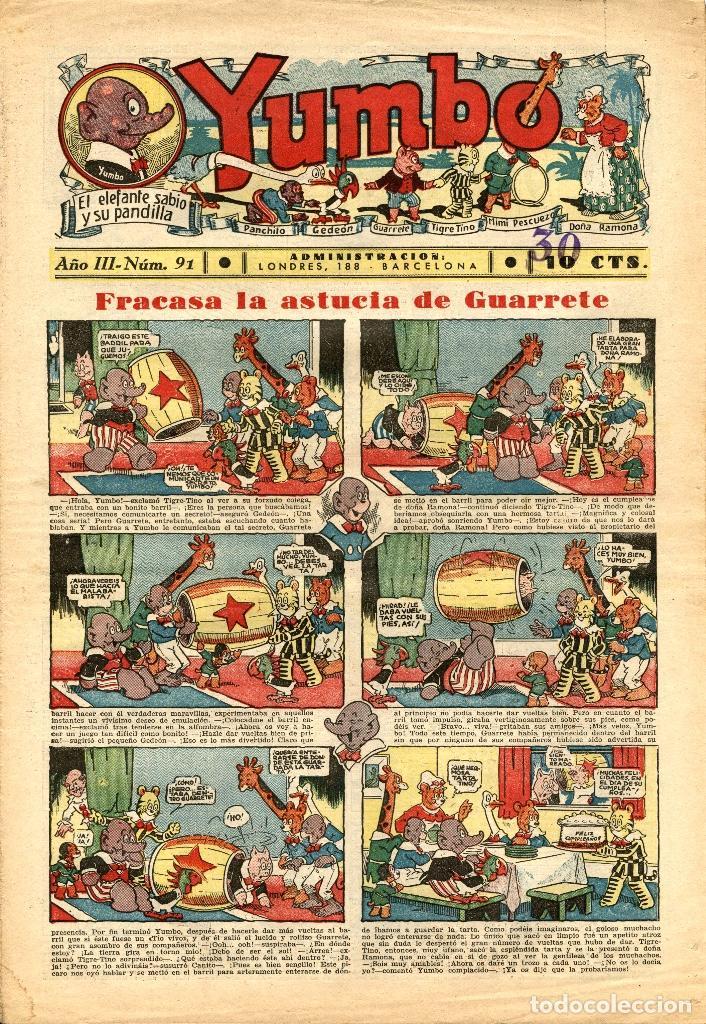 YUMBO-91 (HISPANO AMERICANA, 1936) (Tebeos y Comics - Hispano Americana - Yumbo)