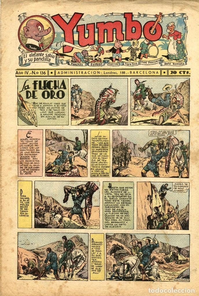 YUMBO-136 (HISPANO AMERICANA, 1937) (Tebeos y Comics - Hispano Americana - Yumbo)