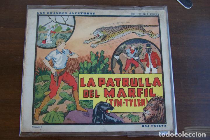HISPANO AMERICANA, GRANDES AVENTURAS 1936 Nº 1 LA PATRULLA DEL MARFIL TIM TYLER (Tebeos y Comics - Hispano Americana - Jorge y Fernando)