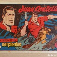 Tebeos: JUAN CENTELLA Nº 4. LA CRIPTA DE LAS SERPIENTES. ORIGINAL. EDITA HISPANO AMERICANA. 1,25 PTAS.. Lote 207009395