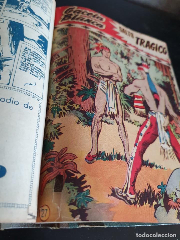 Tebeos: 1949 GACELA BLANCA -ORIGINAL- COMPLETA los 54 ejemplares - Foto 6 - 207229852