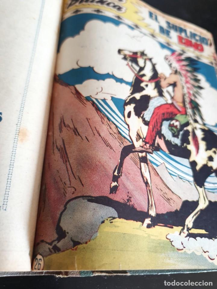 Tebeos: 1949 GACELA BLANCA -ORIGINAL- COMPLETA los 54 ejemplares - Foto 7 - 207229852