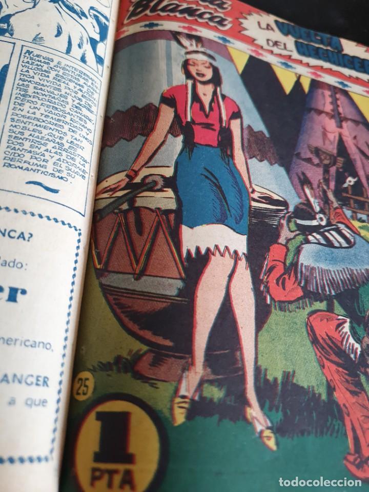 Tebeos: 1949 GACELA BLANCA -ORIGINAL- COMPLETA los 54 ejemplares - Foto 8 - 207229852