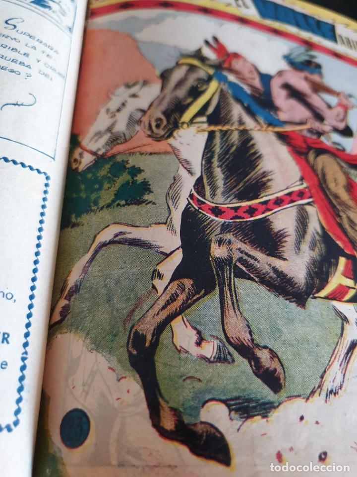 Tebeos: 1949 GACELA BLANCA -ORIGINAL- COMPLETA los 54 ejemplares - Foto 10 - 207229852