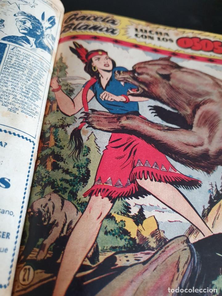 Tebeos: 1949 GACELA BLANCA -ORIGINAL- COMPLETA los 54 ejemplares - Foto 12 - 207229852