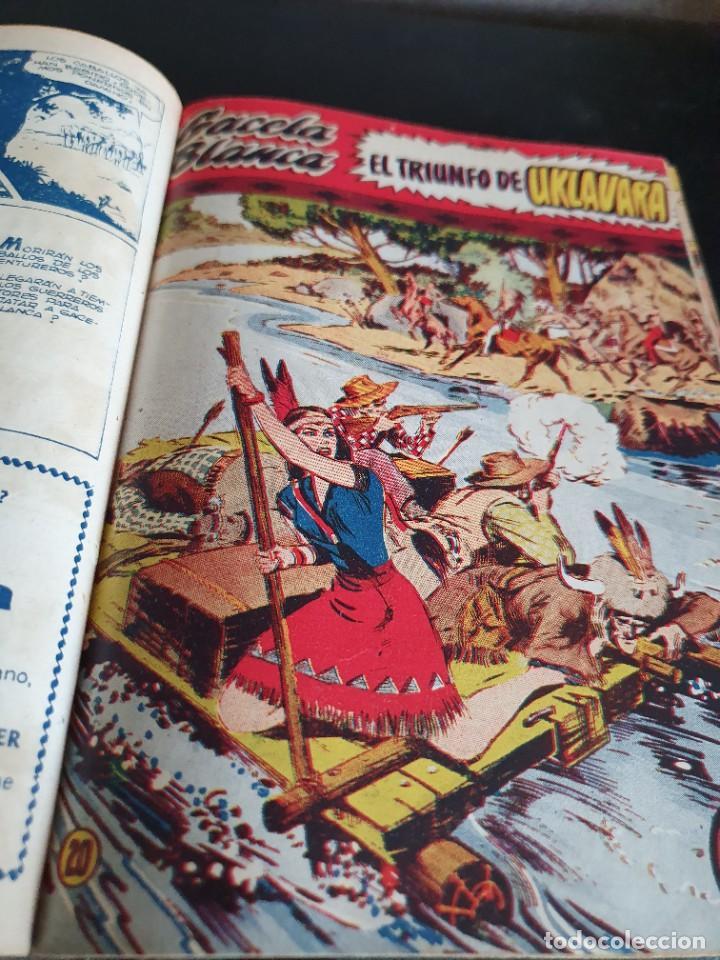 Tebeos: 1949 GACELA BLANCA -ORIGINAL- COMPLETA los 54 ejemplares - Foto 13 - 207229852