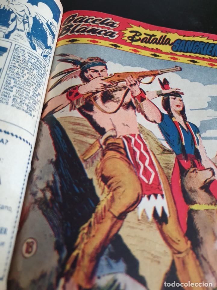 Tebeos: 1949 GACELA BLANCA -ORIGINAL- COMPLETA los 54 ejemplares - Foto 15 - 207229852