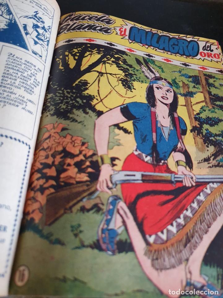 Tebeos: 1949 GACELA BLANCA -ORIGINAL- COMPLETA los 54 ejemplares - Foto 17 - 207229852