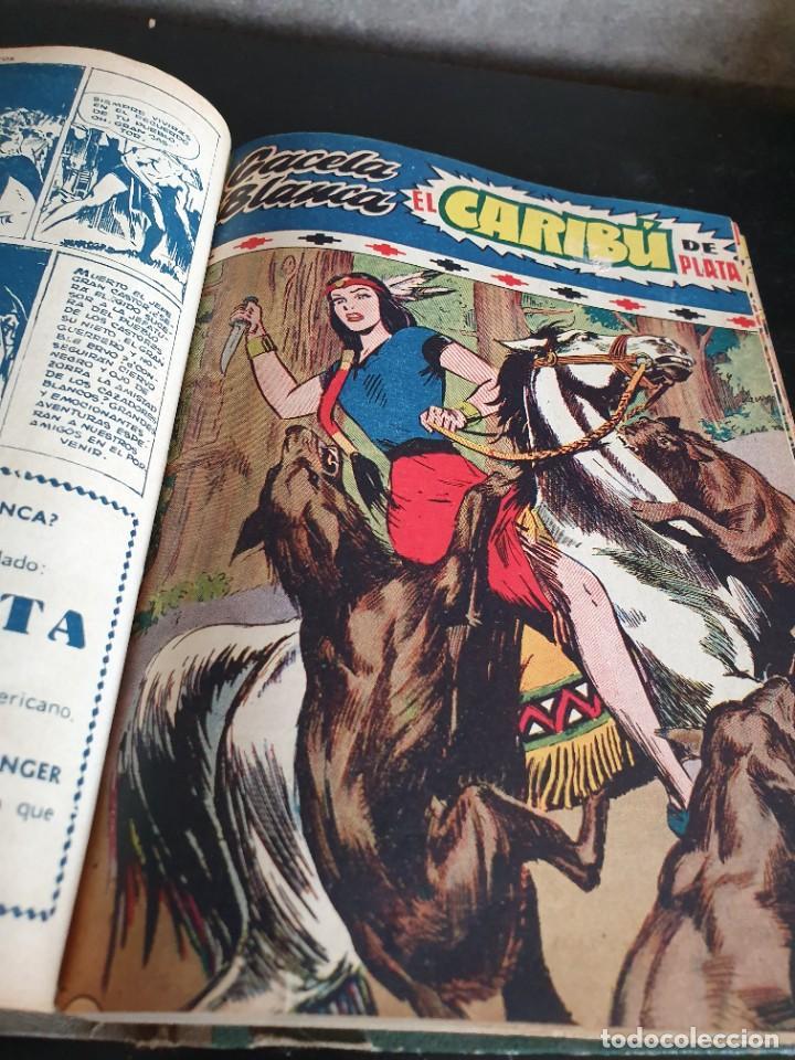 Tebeos: 1949 GACELA BLANCA -ORIGINAL- COMPLETA los 54 ejemplares - Foto 18 - 207229852
