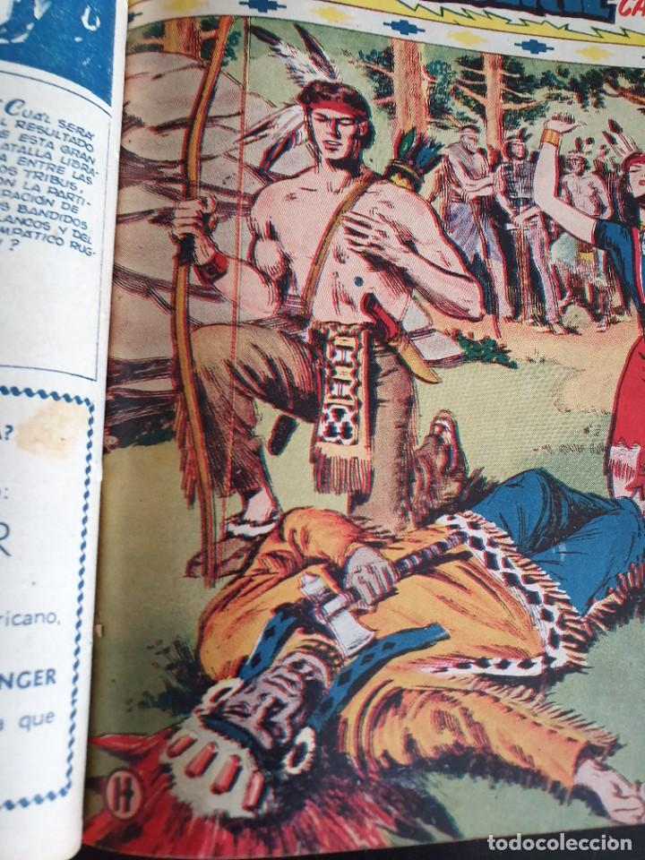 Tebeos: 1949 GACELA BLANCA -ORIGINAL- COMPLETA los 54 ejemplares - Foto 19 - 207229852