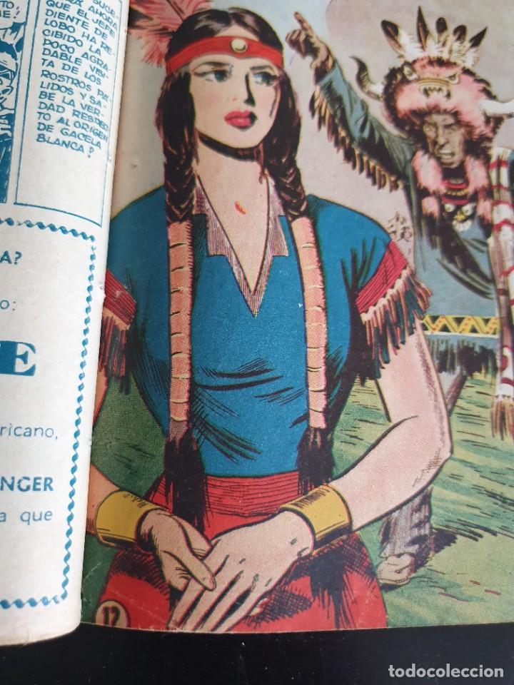 Tebeos: 1949 GACELA BLANCA -ORIGINAL- COMPLETA los 54 ejemplares - Foto 21 - 207229852