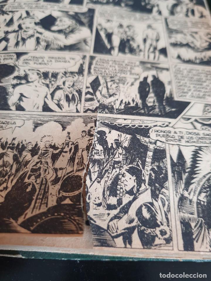 Tebeos: 1949 GACELA BLANCA -ORIGINAL- COMPLETA los 54 ejemplares - Foto 23 - 207229852