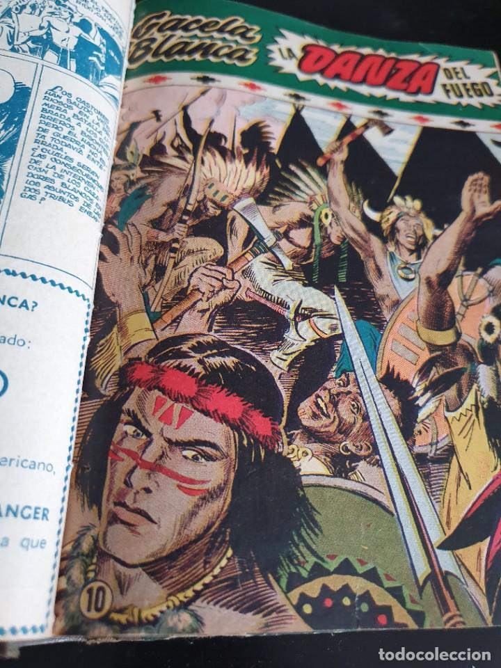 Tebeos: 1949 GACELA BLANCA -ORIGINAL- COMPLETA los 54 ejemplares - Foto 24 - 207229852