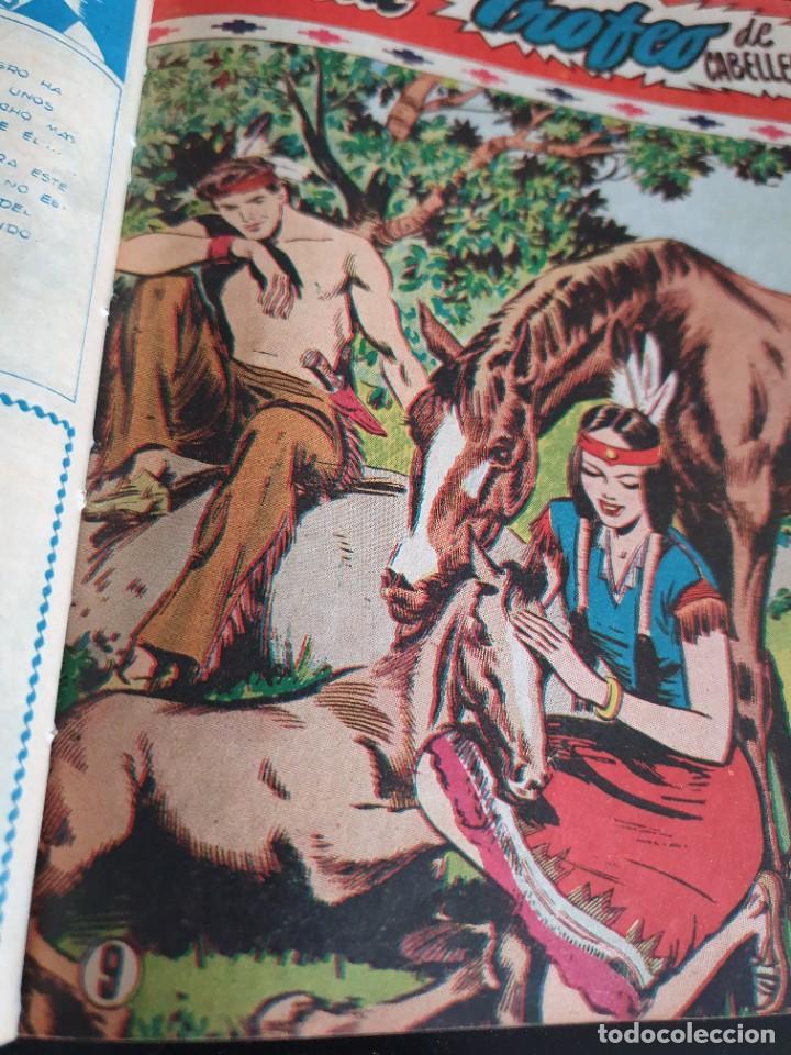 Tebeos: 1949 GACELA BLANCA -ORIGINAL- COMPLETA los 54 ejemplares - Foto 25 - 207229852