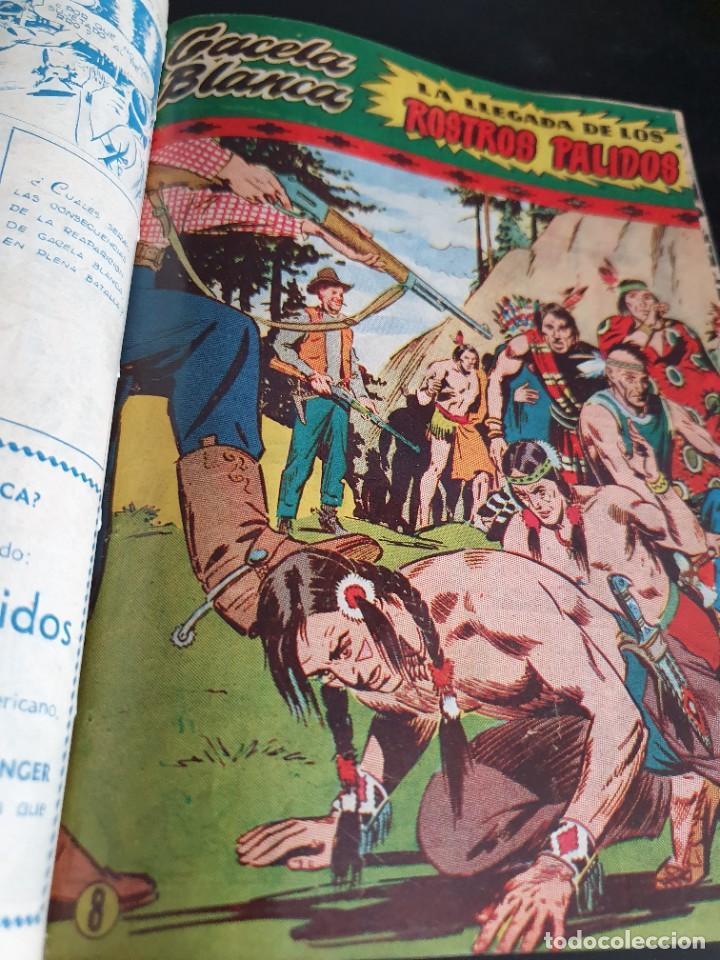 Tebeos: 1949 GACELA BLANCA -ORIGINAL- COMPLETA los 54 ejemplares - Foto 26 - 207229852