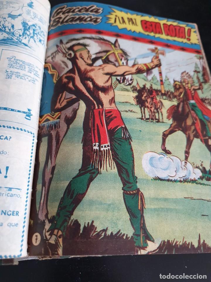 Tebeos: 1949 GACELA BLANCA -ORIGINAL- COMPLETA los 54 ejemplares - Foto 27 - 207229852