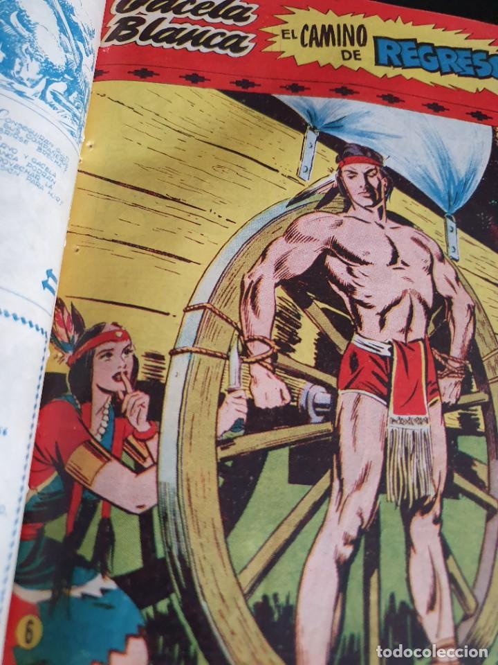 Tebeos: 1949 GACELA BLANCA -ORIGINAL- COMPLETA los 54 ejemplares - Foto 28 - 207229852