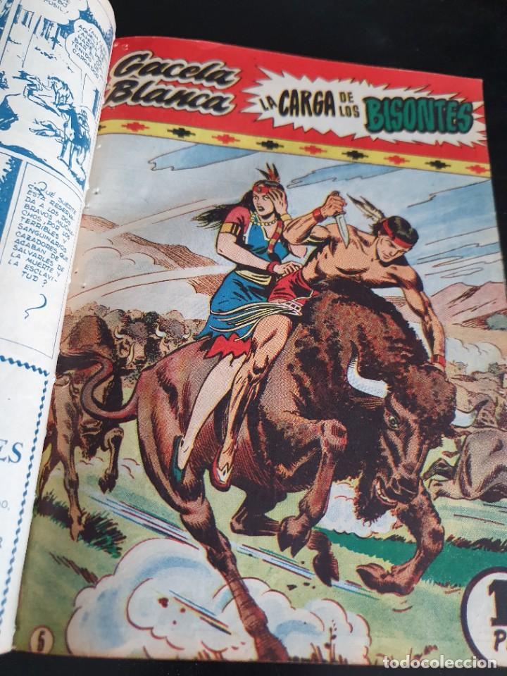 Tebeos: 1949 GACELA BLANCA -ORIGINAL- COMPLETA los 54 ejemplares - Foto 29 - 207229852