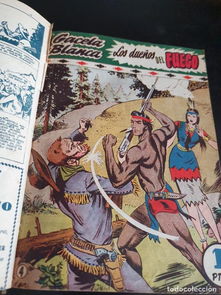 Tebeos: 1949 GACELA BLANCA -ORIGINAL- COMPLETA los 54 ejemplares - Foto 30 - 207229852