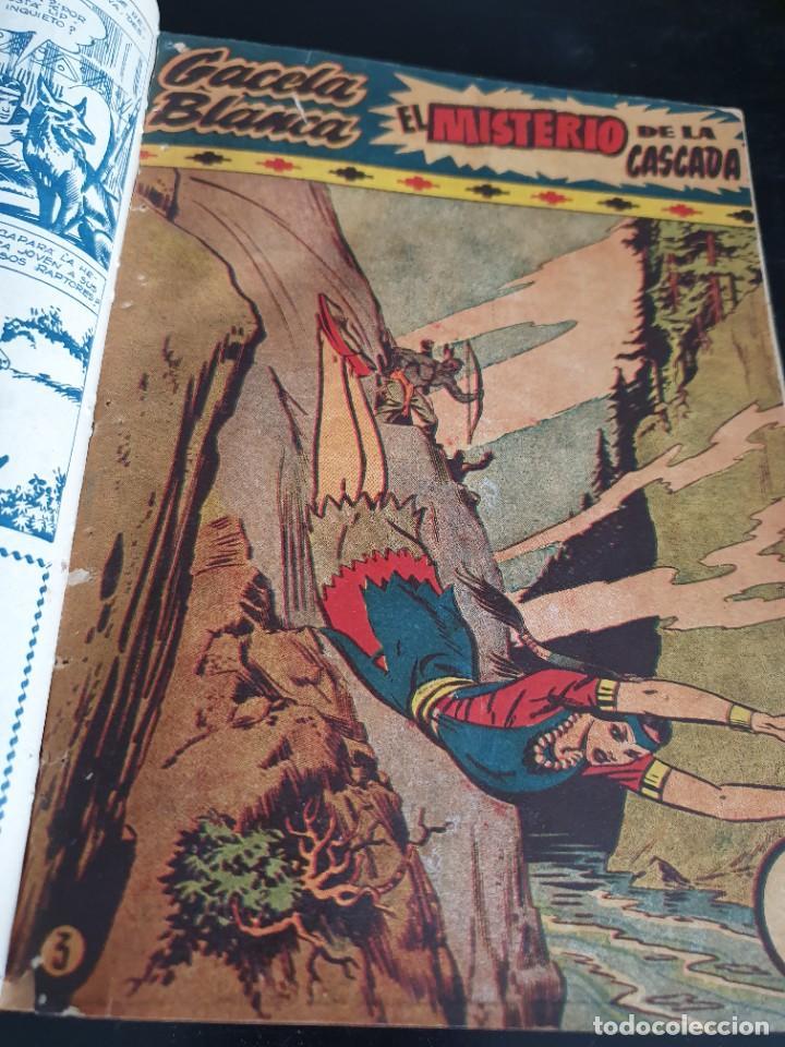 Tebeos: 1949 GACELA BLANCA -ORIGINAL- COMPLETA los 54 ejemplares - Foto 31 - 207229852