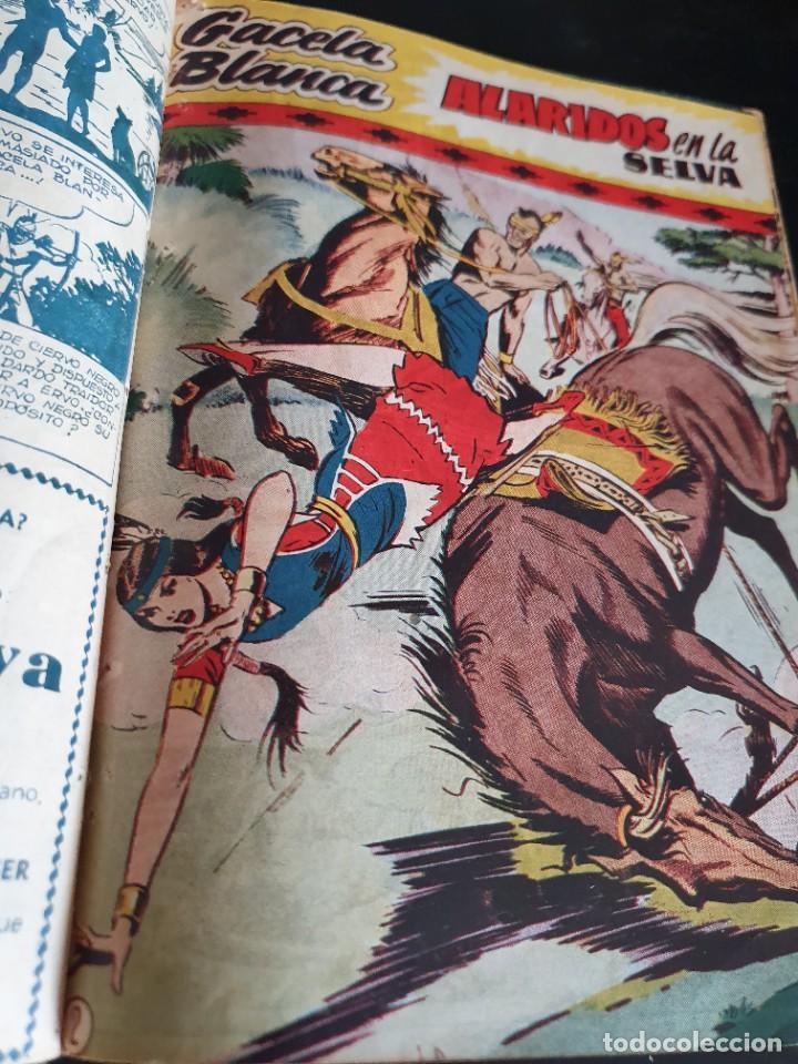 Tebeos: 1949 GACELA BLANCA -ORIGINAL- COMPLETA los 54 ejemplares - Foto 32 - 207229852
