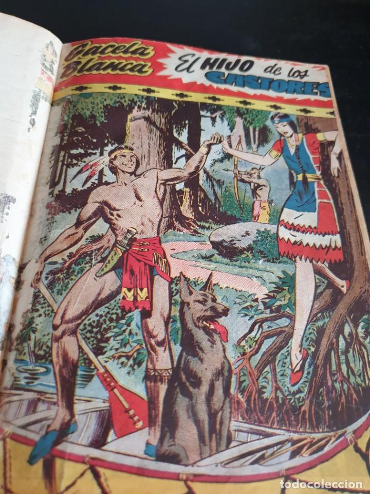 Tebeos: 1949 GACELA BLANCA -ORIGINAL- COMPLETA los 54 ejemplares - Foto 33 - 207229852
