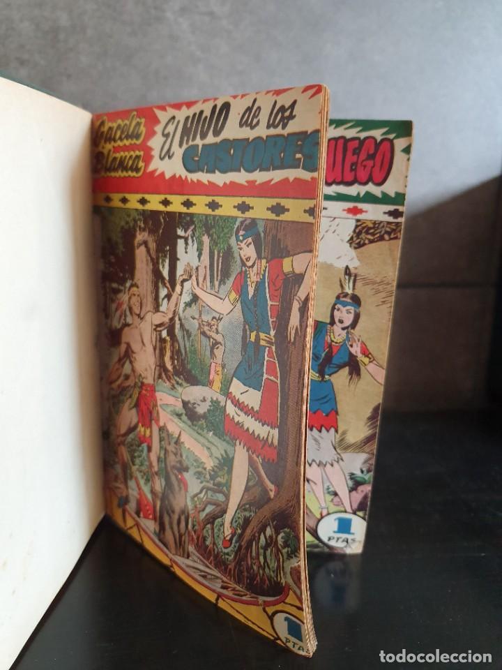 Tebeos: 1949 GACELA BLANCA -ORIGINAL- COMPLETA los 54 ejemplares - Foto 35 - 207229852