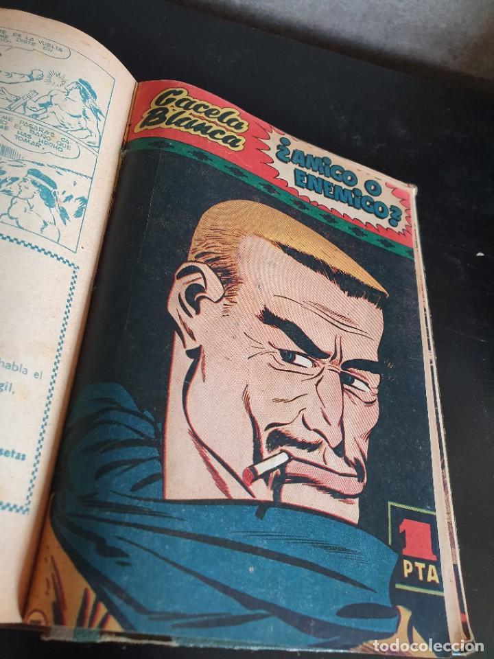 Tebeos: 1949 GACELA BLANCA -ORIGINAL- COMPLETA los 54 ejemplares - Foto 36 - 207229852
