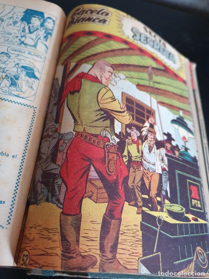 Tebeos: 1949 GACELA BLANCA -ORIGINAL- COMPLETA los 54 ejemplares - Foto 37 - 207229852
