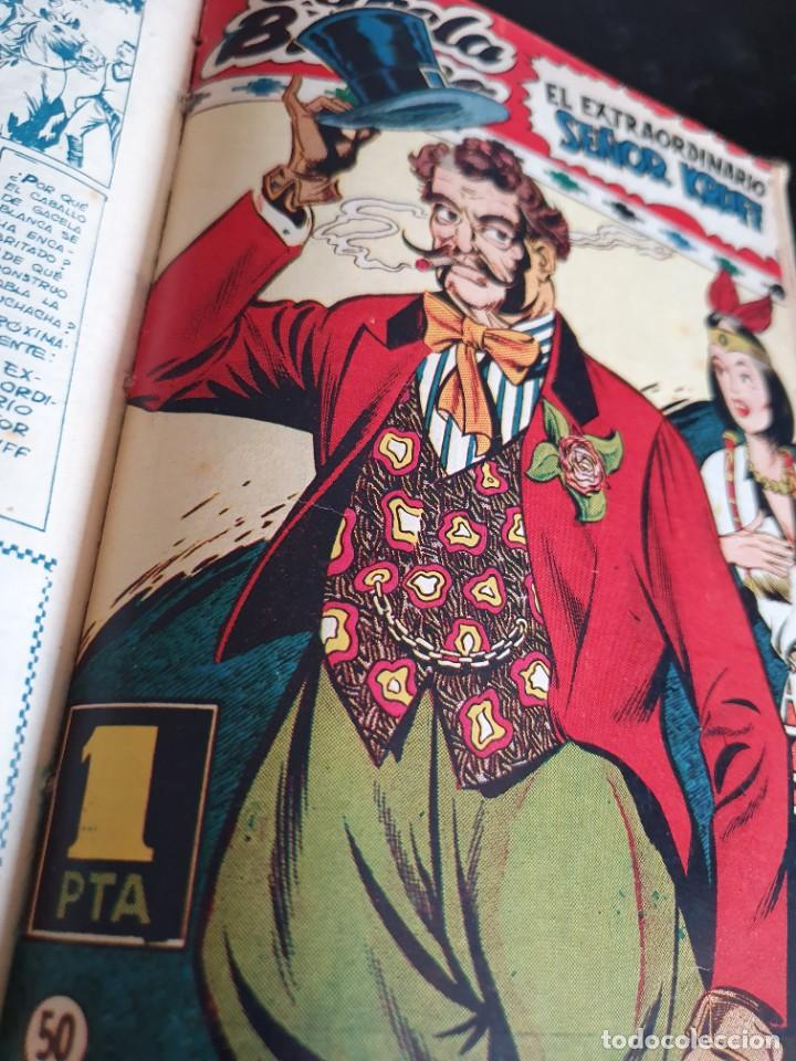 Tebeos: 1949 GACELA BLANCA -ORIGINAL- COMPLETA los 54 ejemplares - Foto 39 - 207229852