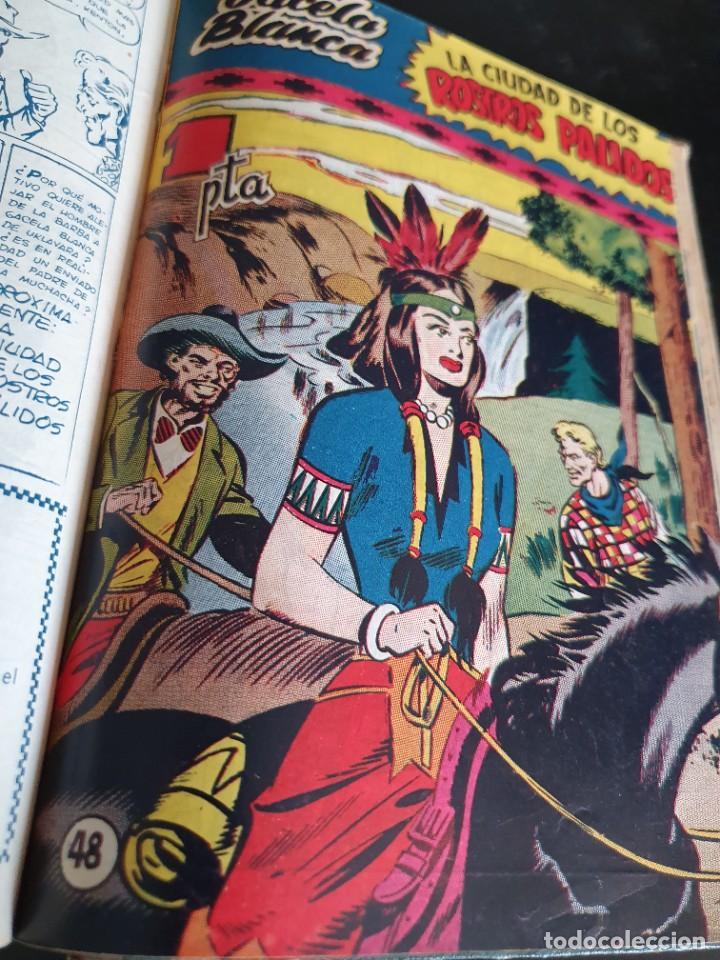 Tebeos: 1949 GACELA BLANCA -ORIGINAL- COMPLETA los 54 ejemplares - Foto 41 - 207229852
