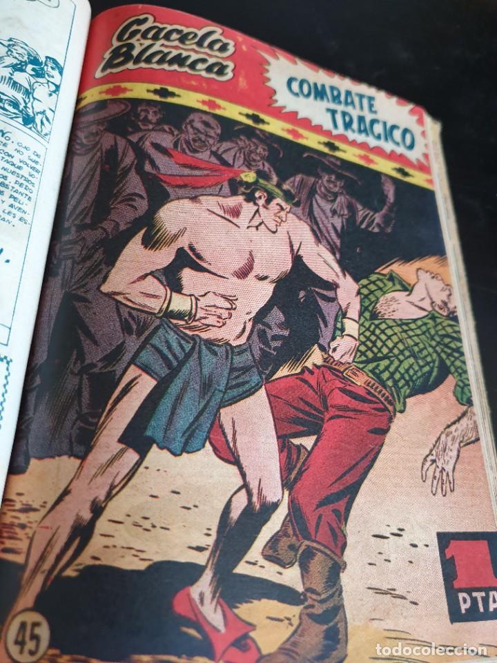 Tebeos: 1949 GACELA BLANCA -ORIGINAL- COMPLETA los 54 ejemplares - Foto 44 - 207229852