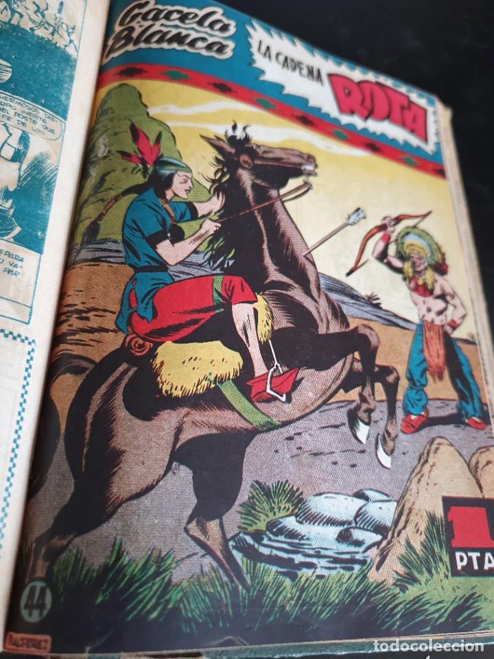 Tebeos: 1949 GACELA BLANCA -ORIGINAL- COMPLETA los 54 ejemplares - Foto 45 - 207229852
