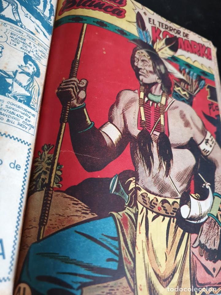 Tebeos: 1949 GACELA BLANCA -ORIGINAL- COMPLETA los 54 ejemplares - Foto 48 - 207229852