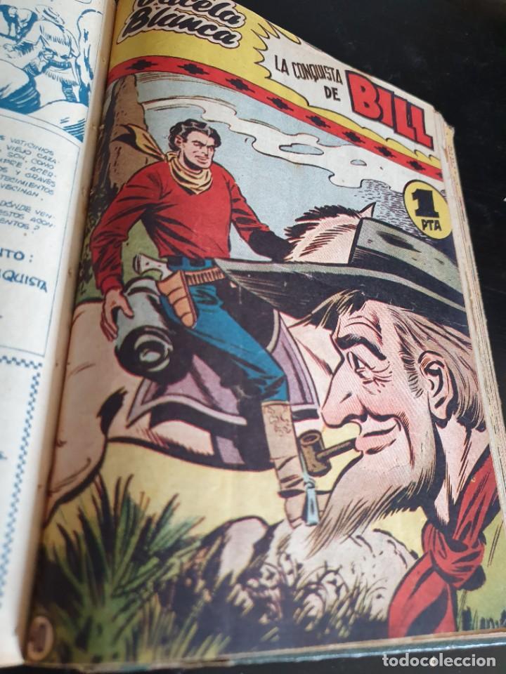 Tebeos: 1949 GACELA BLANCA -ORIGINAL- COMPLETA los 54 ejemplares - Foto 49 - 207229852