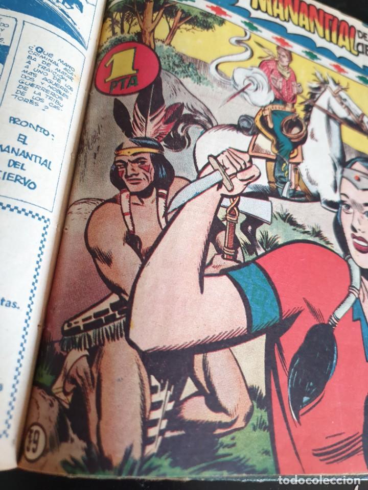 Tebeos: 1949 GACELA BLANCA -ORIGINAL- COMPLETA los 54 ejemplares - Foto 50 - 207229852