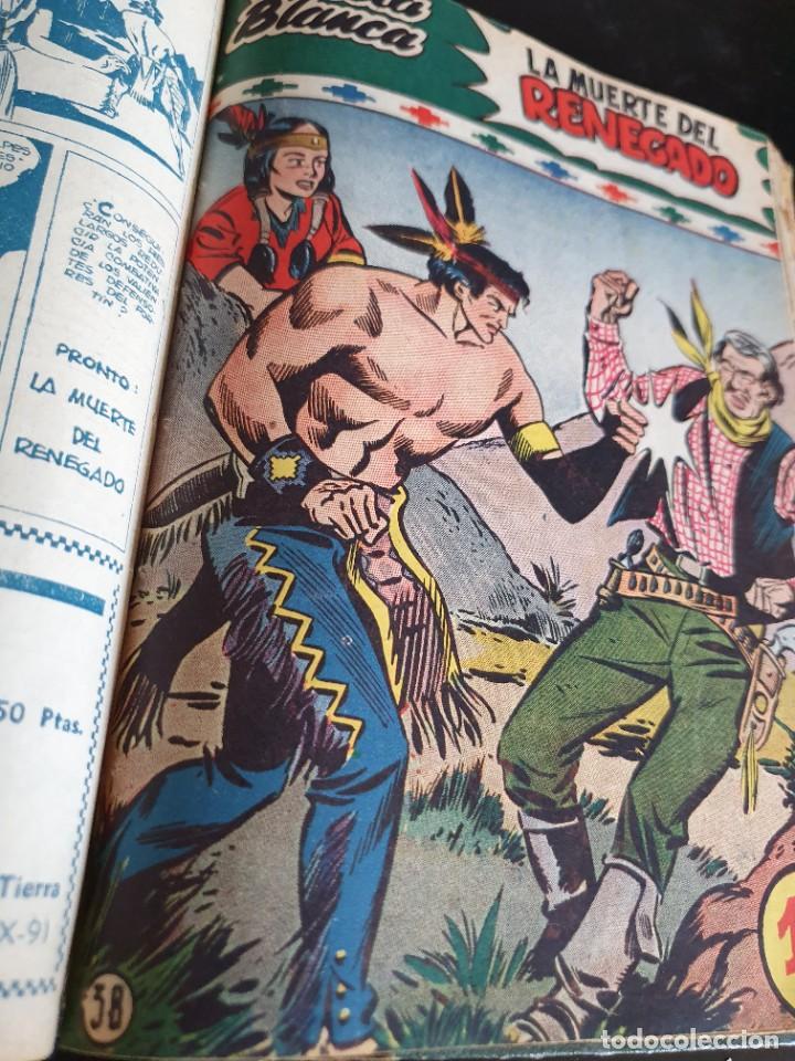 Tebeos: 1949 GACELA BLANCA -ORIGINAL- COMPLETA los 54 ejemplares - Foto 51 - 207229852