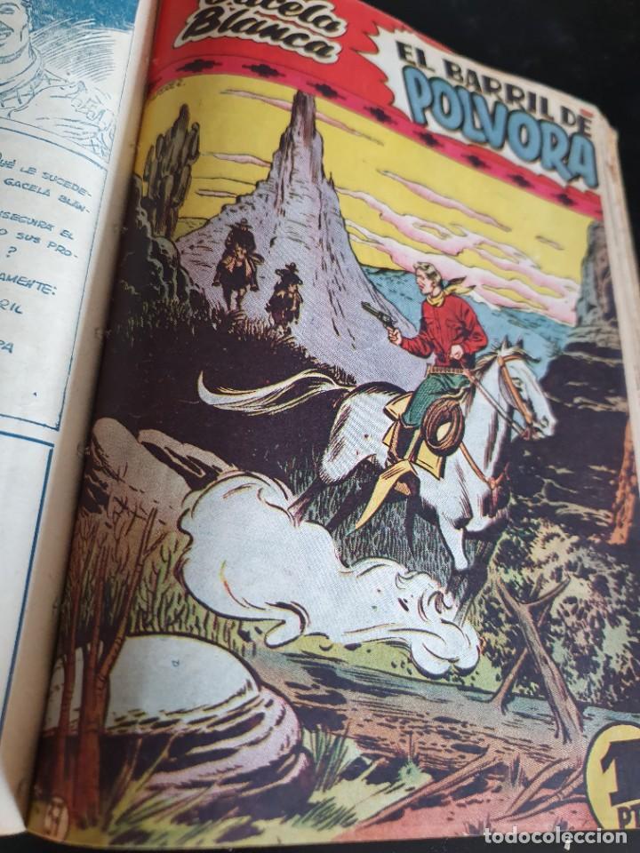 Tebeos: 1949 GACELA BLANCA -ORIGINAL- COMPLETA los 54 ejemplares - Foto 52 - 207229852