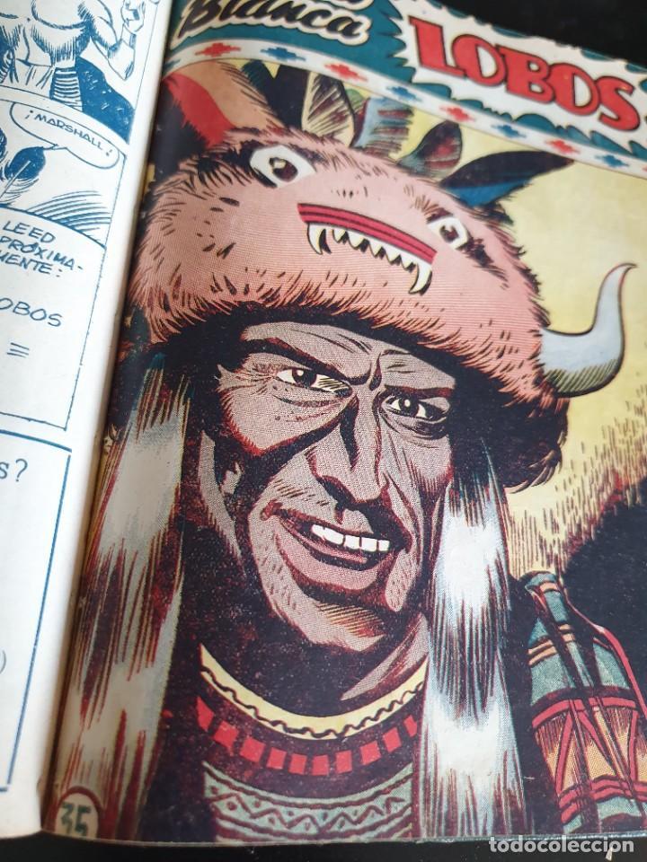 Tebeos: 1949 GACELA BLANCA -ORIGINAL- COMPLETA los 54 ejemplares - Foto 54 - 207229852