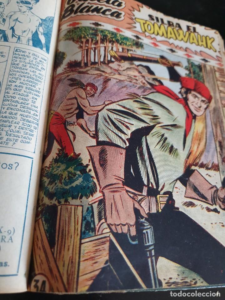 Tebeos: 1949 GACELA BLANCA -ORIGINAL- COMPLETA los 54 ejemplares - Foto 55 - 207229852