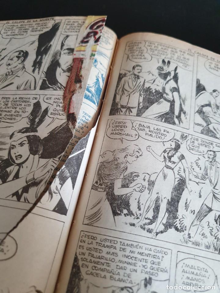 Tebeos: 1949 GACELA BLANCA -ORIGINAL- COMPLETA los 54 ejemplares - Foto 56 - 207229852